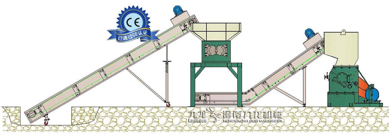 大型铡草机流程图