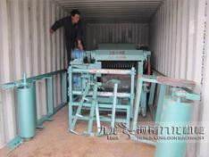 印度鼓式削片机集装箱出口现场