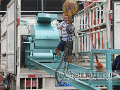 满洲里大型木材粉碎机发货现场