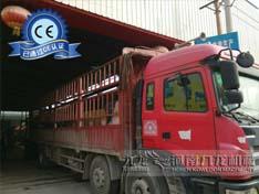 发往浙江台州的216鼓式削片机正在出货中