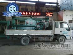 九龙销往广东省增城的216鼓式削片机发货图