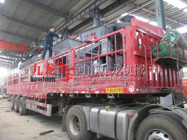 发往北京轮胎粉碎机生产线