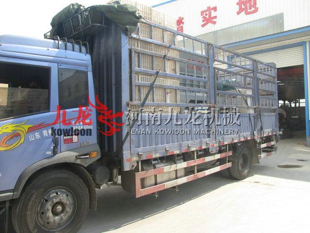 发往山东潍坊青州的撕碎机现场