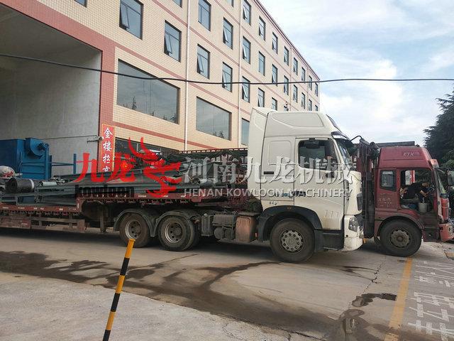 发往湖北黄冈的废钢破碎机生产线(图)