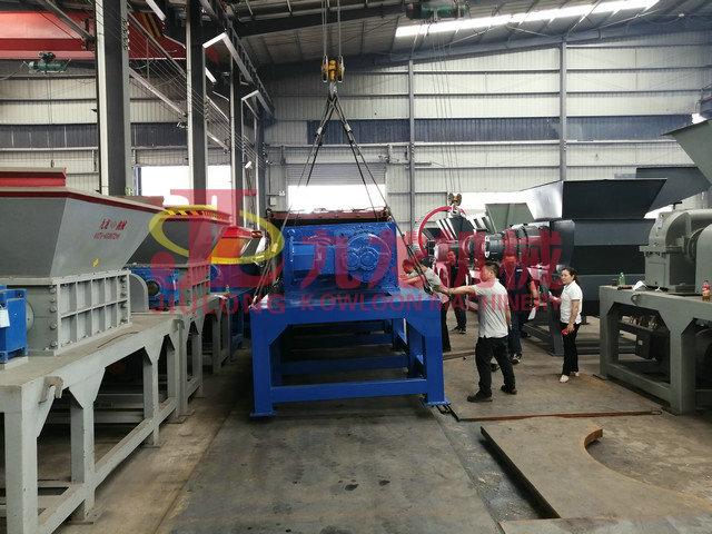 发往泰国铝压块撕碎机生产线